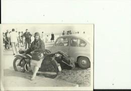 OLD MOTO  --  NSU MAX  --  OR SUPERMAX  --   PHOTO   9 Cm X 6,5 Cm  --  LADY - Photographs
