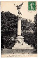 CP, 77, MEAUX, Monument élévé à La Mémoire Des Enfants De Seine Et Marne, écrite, Voyagé - Meaux