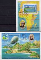 Brasiliana EXPO Rio 1979 St.Thomas-Insel Blocks 35+36 O 55€ Post-Flug Zeppelin Blocs Philatelics Sheets Bf Sao Tome - 1893 – Chicago (Die Vereinigten Staaten)