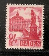 BADE  OBLITERE - Baden