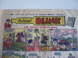 COLONEL BLINK.25 Juillet 1959.The BEEZER. Calamity Jane. 4 Pages 30x42 Cm Plié En 2 TBon Etat - BD Britanniques