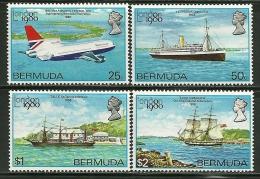 """Bermuda      """"Ships & Airplane""""    Set     SC# 393-96     MNH** - Bermudes"""