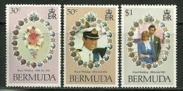 """Bermuda      """"Royal Wedding""""    Set     SC# 412-14     MNH** - Bermudes"""