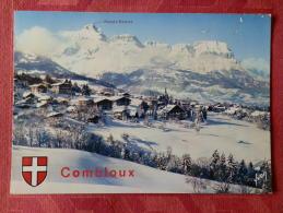 Dep 74 , Cpm  COMBLOUX  , Alt 1000m. , 10/14240 , Vue Générale Et Au Fond , La Chaine Des Aravis (061) - Combloux