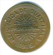 Guatemala KM231  25 Centavos 1915 Provisional CoiN High Grade - Guatemala