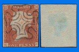 GB 1841-0104, QV 1d Pale Red-Brown Letters G-G SG9 Plate 18 (Spec BS7b), MC Cancel - 1840-1901 (Victoria)