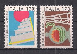 ITALIA 1980 FONTI ENERGETICHE SASS. 1485-1486 MNH XF - 6. 1946-.. República