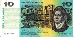 AUSTRALIA 1974 $10 Banknote Phillips/Wheeler - Emisiones Gubernamentales Decimales 1966-...