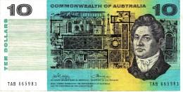 AUSTRALIA 1972 $10 Banknote Phillips/Wheeler - Emissions Gouvernementales Décimales 1966-...