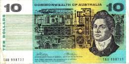 AUSTRALIA 1972 $10 Banknote Phillips/Wheeler - 1966-72 Reserve Bank Of Australia