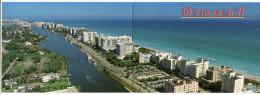 "USA -  AK 204555 Florida - Miami Beach - ""2 Cards In One"" Panoramic Card - Miami Beach"