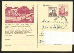 ST. VALENTIN Niederösterreich Postkarte Schwimmbad Tennisplätze Ennstal Mühlviertel Lienz 1974 - St. Valentin