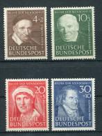 Bundesrepublik Nr. 143-146 Sauber Postfrisch - [7] Federal Republic