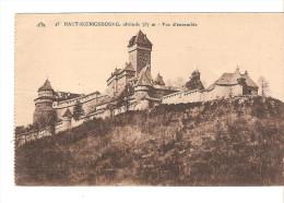 67  Chateau Du HAUT KOENIGSBOURG N°43 Vue D´ensemble 757 M.carnet  / CPA Ed. CAP Une Signature Au Dos Crayon / Bon Etat - France