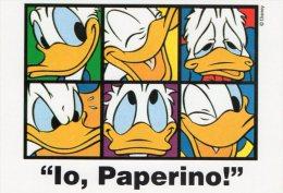 [DC0137] CARTOLINEA - MOLTO RARA - IO PAPERINO! - DISNEY - CARTOLINEA CLUB - Disney