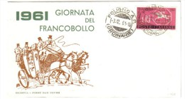 1961 Giornata Del Francobollo 03 12 1961   C.1737 - 1961-70: Marcofilia