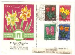 Luxembourg 1955 Fleurs 1er Jour D'emission 22 05 1955   C.1739 - Luxemburgo