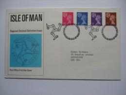ISLE OF MAN 1971 FDC OF REGIONAL ISSUES - Isola Di Man