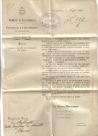 Comune Di Valfabbrica Provincia E Circondario Di Perugia 02 Luglio 1886  C.1742 - 1878-00 Humbert I.