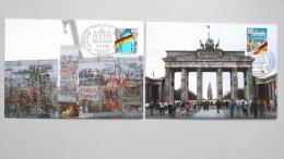 Deutschland BRD 1481/2 Yt 1313/4 Maximumkarte MC, SST Berlin Ausstellung, 1. Jahrest. Öffnung D. Innerdeutschen Grenze - [7] Federal Republic