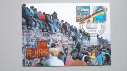 Deutschland BRD 1481/2 Yt 1313/4 Maximumkarte MC, SST Berlin Ausstellung, Aus Bl. 22, Öffnung D. Innerdeutschen Grenze - [7] Federal Republic