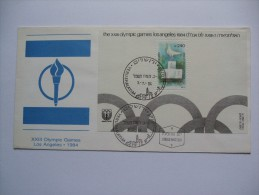 ISRAEL 1984 OLYMPIC GAMES MINISHEET FDC - Israel