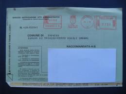 ANNULLO ROSSO AFFRANCATURE MECCANICHE- COMUNI D´ITALIA - COMUNE TREVISO (TV)  26.03.1984 ATTI GIUDIZIARI  IN  LIRE - Affrancature Meccaniche Rosse (EMA)