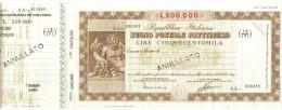 Buono Postale Fruttifero  500000 Lire Annullato Provincia Cagliari Uff. Tratalias Doc.005 - Other