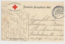 Feldpost Bahnpoststempel Schwarzenberg - Johanngeorgenberg Zug 3117 11.2.15 Karte beschnitten Deutsche Kriegskarte