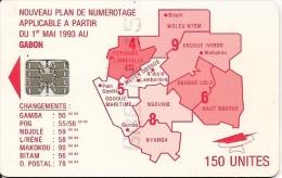 TC-PUCE-GABON--SC7-150U -SCHLUM-ROUGE-REGIONS-TB E - Gabon