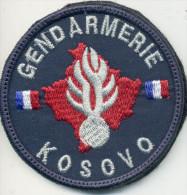 INSIGNE TISSUS PATCH GENDARMERIE NATIONALE OPEX KOSOVO SUR VELCRO