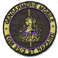 INSIGNE TISSUS PATCH GENDARMERIE NATIONALE GENDARMERIE MOBILE EGM 35/5 ST. NAZAIRE MONITEUR SUR VELCRO