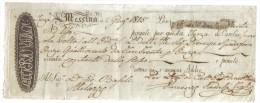 Messina 2 Giugno 1815 Pagate Per Questa Terza Di Cambio Doc.013 - Wissels