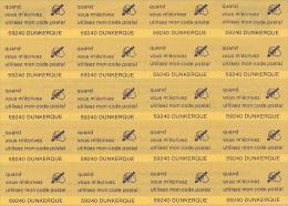 Dunkerque Bloc 20 Vignettes Code Postal - Erinnophilie