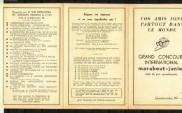 Supplément - Concours C.I.C.M. - Questionnaire N° 3 - Insert  MJ N° 103. - Marabout Junior