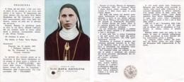 Santino Depliant SERVA DI DIO SUOR MARIA MADDALENA DEL SS. CROCIFISSO Con RELIQUIA (Ex Indumentis) - G81 - Religion & Esotérisme