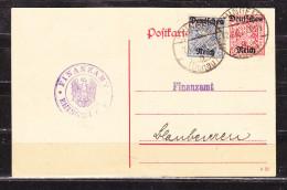 DP 14/02 + ZF Ziffer, Finanzamt Ehingen, Nach Blaubeuren 1920 (59442) - Deutschland
