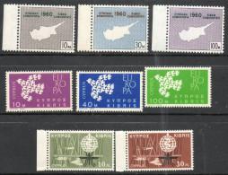 Cyprus 1960-1962 - New Constitution, Europa & Anti Malaria SG203-210 MNH Cat £3.90 SG2012 - Cipro (Repubblica)