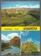 Greetings From AFGHANISTAN - Top: Bamyan Valley, Left - Bottom: Red City, Right: Shahre Ghulghula - Kabul Photo House - Afghanistan
