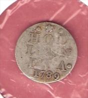 HOLLAND 2 STUIVER 1789 ZILVER - [ 5] Monnaies Provinciales