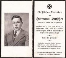Hermann Butfcher - Soldat In Einem Inf-Regiment - 31 Juli 1941 Radomissl In Russland - Décès
