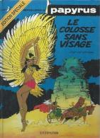 """PAPYRUS  """" LE COLOSSE SANS VISAGE """" -  DE GIETER  -  DUPUIS - Papyrus"""