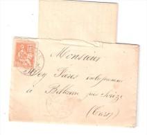 Lettre De  DOURGNE , Tarn ( Village D' ARFONS) , Type MOUCHON, 15 C N° 117 > Belleserre, 15 NOV 1902,TB - 1877-1920: Semi Modern Period