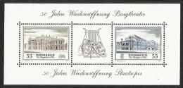 """Österreich 2005  Blockausgabe """"50 Jahre Wiedereröffnung Burgtheater U. Oper """"  ANK Nr. 2589 - 2590 **/ Feinst Postfrisch - 1945-.... 2nd Republic"""