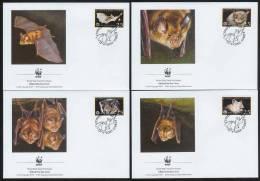 Nat325fb WWF FAUNA ZOOGDIEREN VLEERMUIS VLEERMUIZEN HORSESHOE BAT FLUGHUND FLEDERMÄUSE CHAUVE SOURIS CYPRUS 2003 FDC´s - Vleermuizen