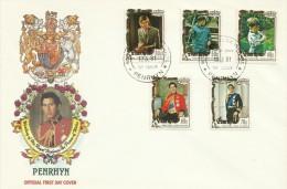 Penrhyn 1981 Royal Wedding FDC - Penrhyn