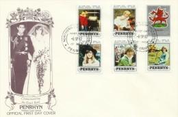 Penrhyn 1982 21 June Birth Of Prince William Of Wales FDC - Penrhyn
