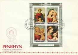 Penrhyn 1983 Christmas Souvenir Sheet FDC - Penrhyn