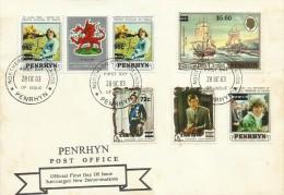 Penrhyn 1983 Overprinted Stamps FDC - Penrhyn