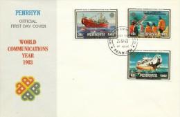 Penrhyn 1983 World Communications Year FDC - Penrhyn